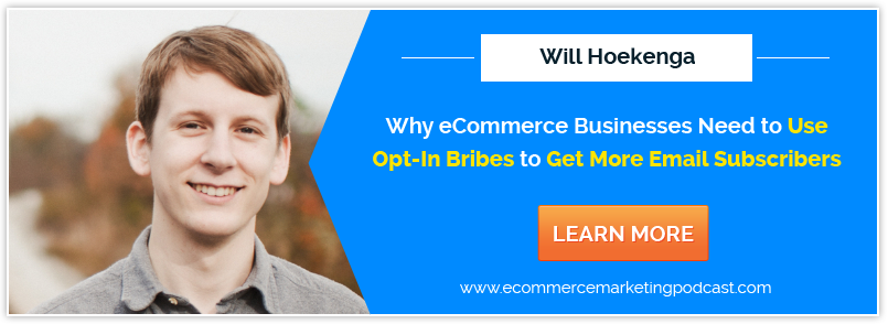 Will Hoekenga Explains Why eCommerce Businesses Need to Use Opt-In Bribes to Get More Email Subscribers